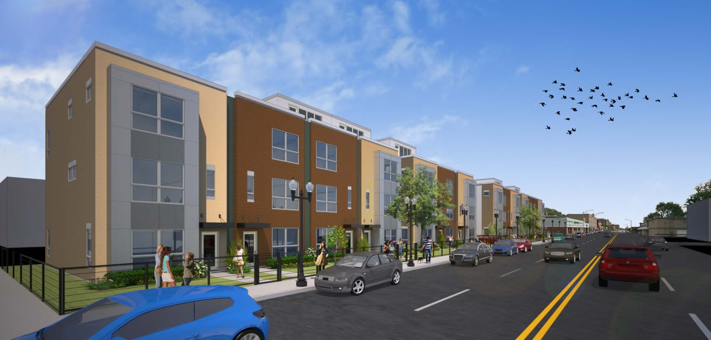 Rendering of Lexington Homes development
