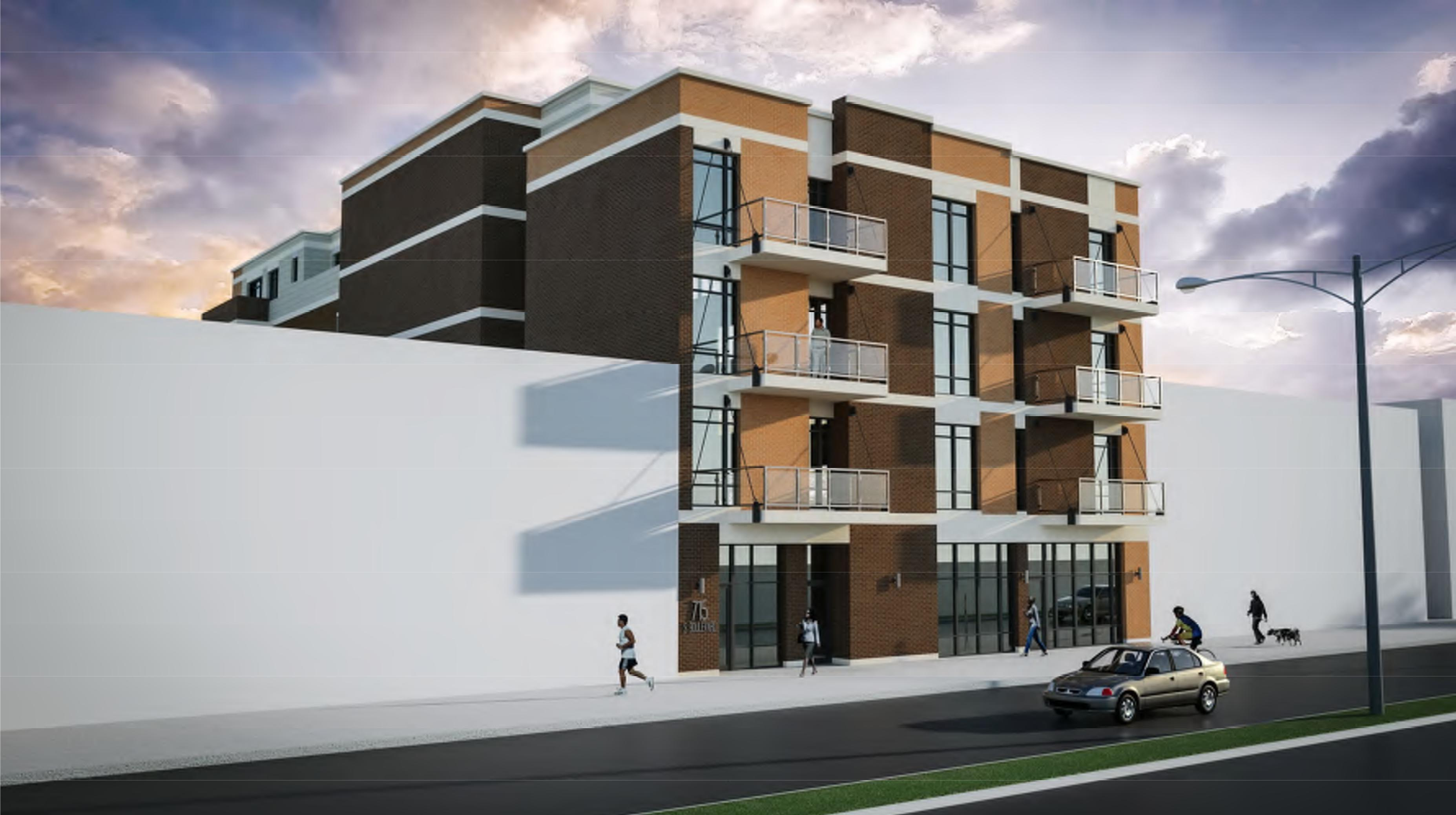 Rendering of the Residences of South Boulevard development