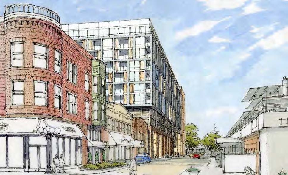 Artist's rendition of propsed redevelopment of South Boulevard and Harlem Avenue