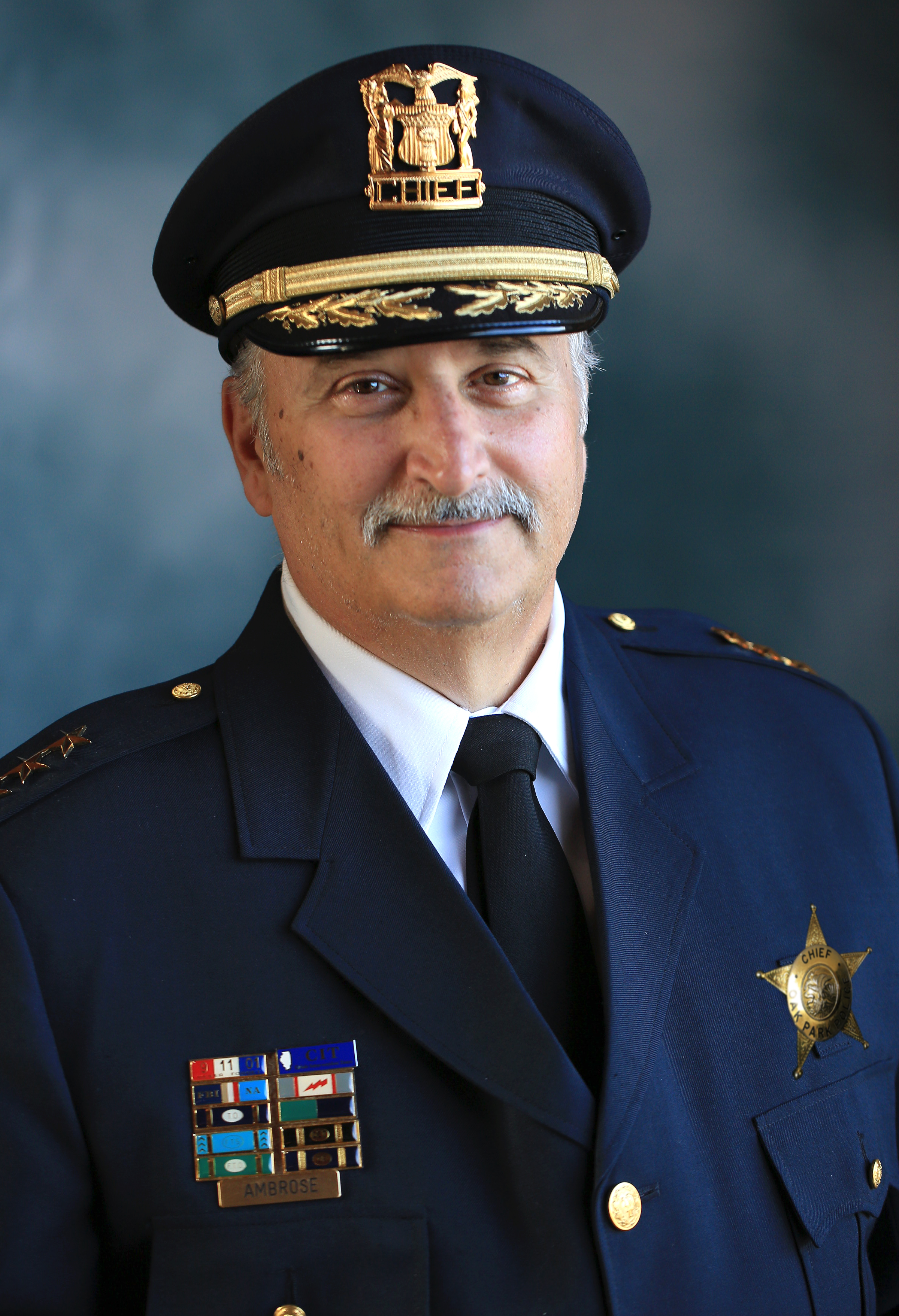 Photo of retiring Oak Park Police Chief Anthony Ambrose