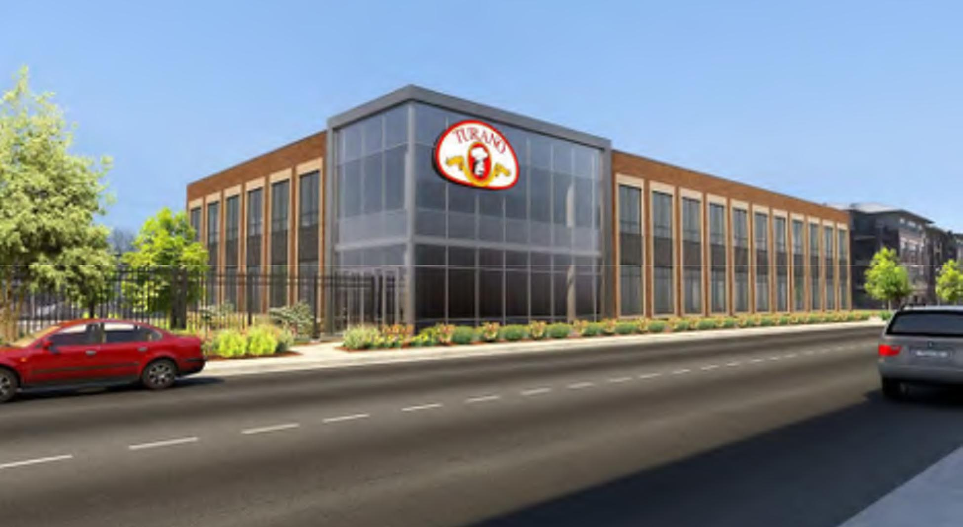Rendering of Turano Bakery Office development