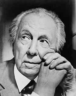 photograph of architect Frank Lloyd Wright