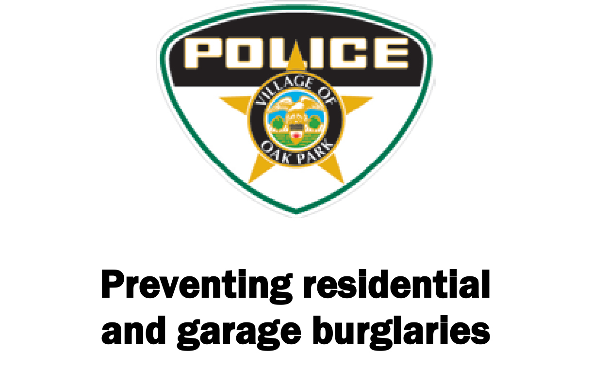 link to tips for preventing residential and garage burglaries